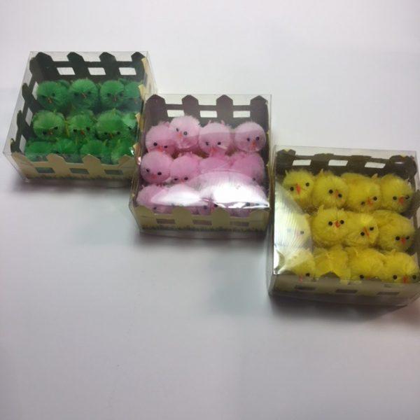 Köp 12 packa chenillekyckling 3.5 cm för festtillbehör | Materialbutiken