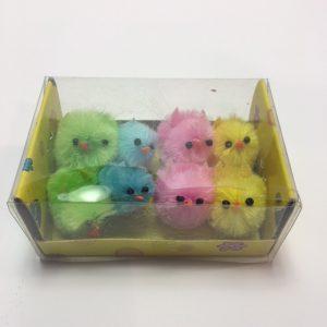 Köp 8 packa chenillekyckling 3 cm för festtillbehör | Materialbutiken