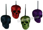 Köp sort glittrig dödskalle för halloween dekorationer | Materialbutiken
