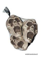 Dödskallar i nät för halloween dekorationer | Materialbutiken