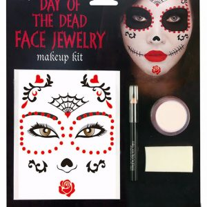 Day of the dead ansiktstatuering makeup kit för halloween dekorationer | Materialbutiken