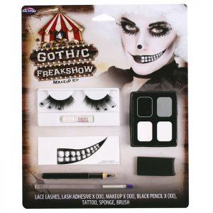 Köp gotisk freakshow makeup för halloween dekorationer | Materialbutiken
