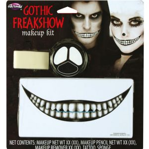 Köp gotisk freakshow makeup kit för halloween dekorationer | Materialbutiken