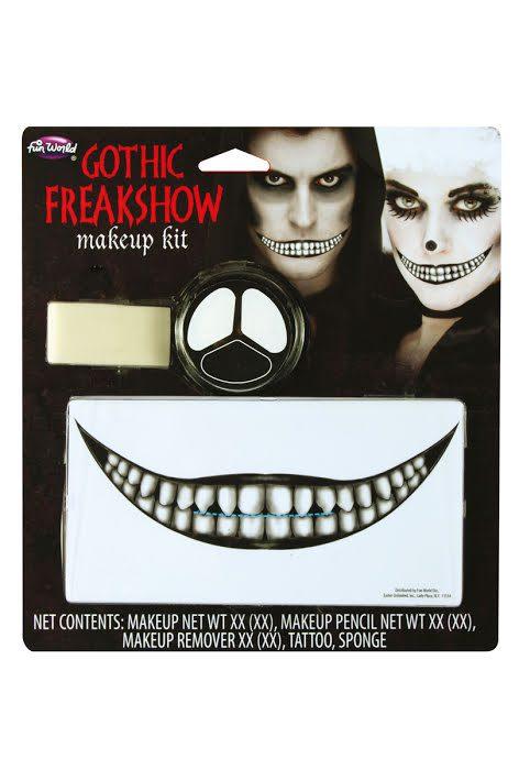 Köp gotisk freakshow makeup kit för halloween dekorationer | Materialbutiken