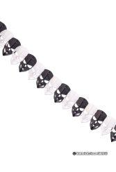 Köp svart och vit fantom girlang 2 m för halloween dekorationer | Materialbutiken