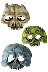 Köp tre typer av skräckmask för barn för halloween dekorationer | Materialbutiken