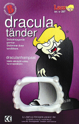 Köp dracula tänder för halloween dekorationer | Materialbutiken