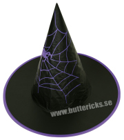 Köp häxhatt m spindelväv för barn halloween dekorationer | Materialbutiken