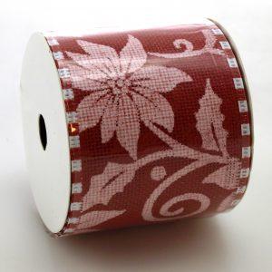 Köp röd linn band 2.7 m x 6.3 cm för festtillbehör | Materialbutiken