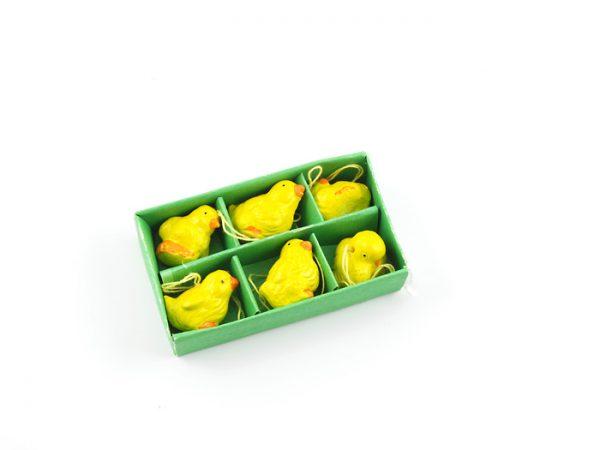 Köp mini-kyckling porslinhänge festtillbehör | Materialbutiken