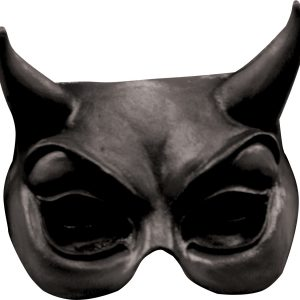 Köp ghoulish black devil halvmask för halloween dekorationer | Materialbutiken