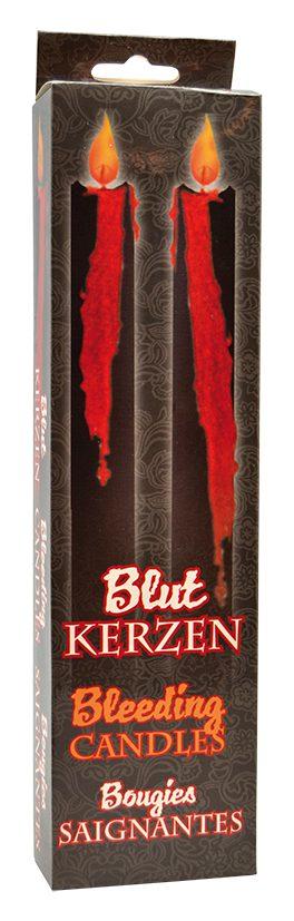 Blut kerzen bleeding candles bougies saignantes blödande ljus 2 pack för halloween dekorationer | Materialbutiken
