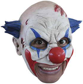 Köp chinless clown mask för halloween dekorationer | Materialbutiken
