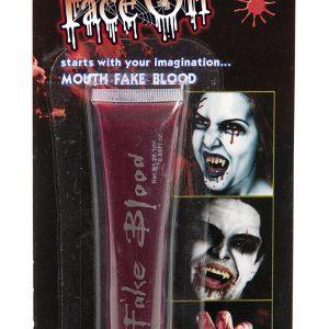 Köp face on falskt blod 26 ml för halloween dekorationer | Materialbutiken