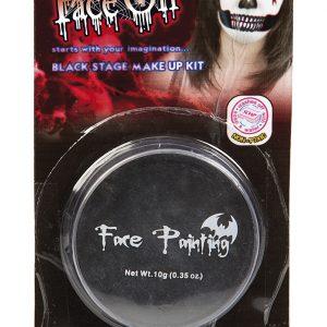 Köp svart ansiktsfärg för halloween dekorationer | Materialbutiken