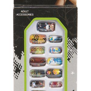 Köp face on falska naglar för halloween dekorationer | Materialbutiken