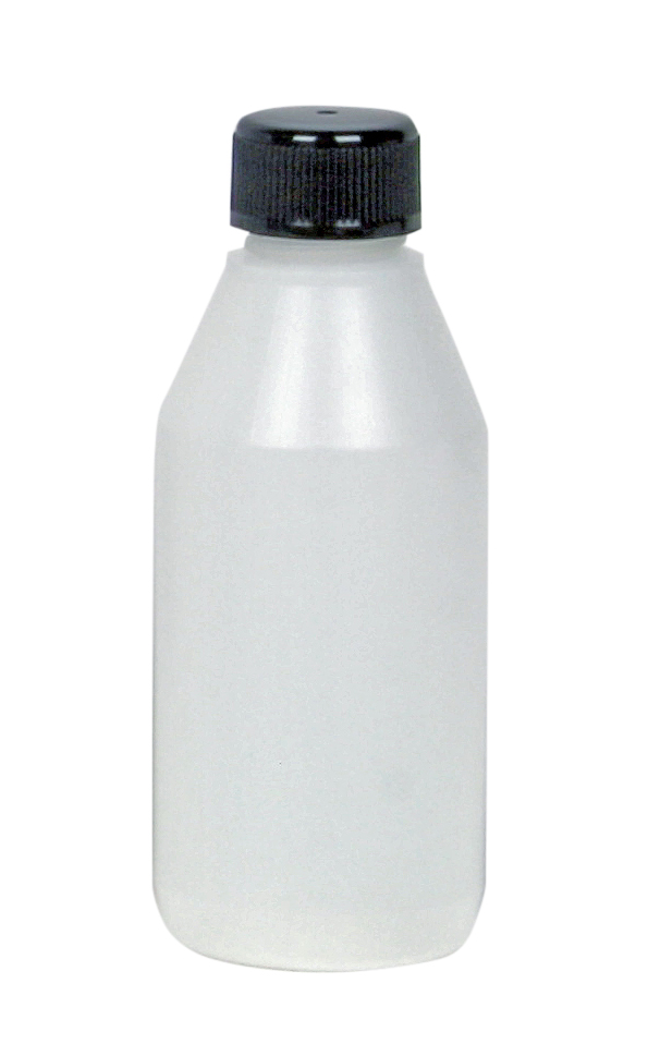 Plastflaska med kork 100 ml laboratorieutrustning | Materialbutiken