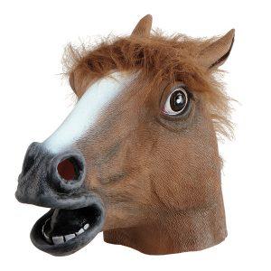 Köp latex häst mask för halloween dekorationer   Materialbutiken