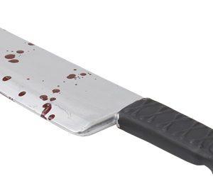Köp kniv med blod för halloween dekorationer | Materialbutiken
