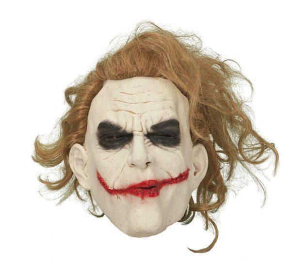 Köp joker med hår mask för halloween dekorationer | Materialbutiken
