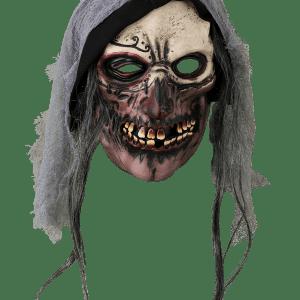 Köp läskig döskalle med huva mask för halloween dekorationer | Materialbutiken