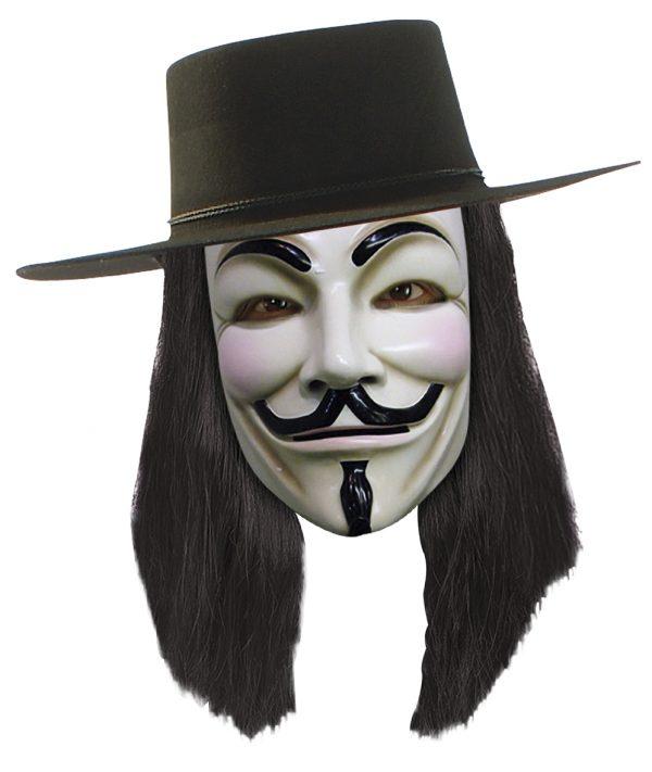 Köp v för vendetta mask för halloween dekorationer | Materialbutiken