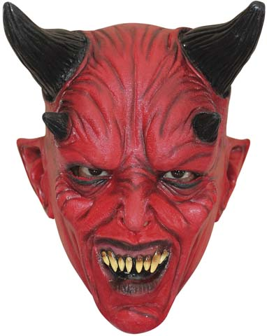 Köp devil latexmask för barn halloween dekorationer | Materialbutiken