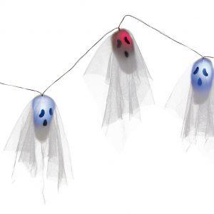 Köp spöken med belysning på strängen 170 cm för halloween dekorationer | Materialbutiken
