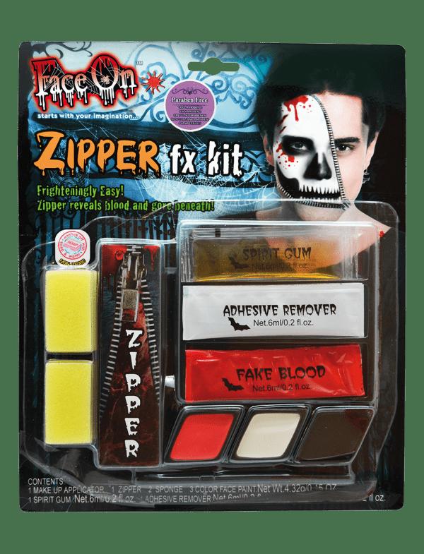 Köp face on make up zipper fx kit för halloween dekorationer | Materialbutiken