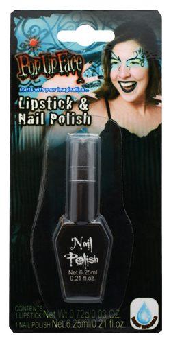 Köp svart lipstick och nail polish festtillbehör | Materialbutiken
