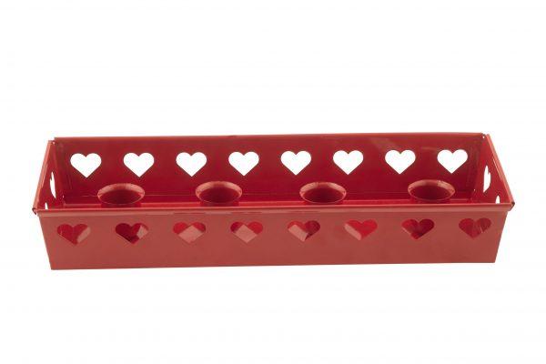 Köp röd adventslåda 28 cm festtillbehör | Materialbutiken
