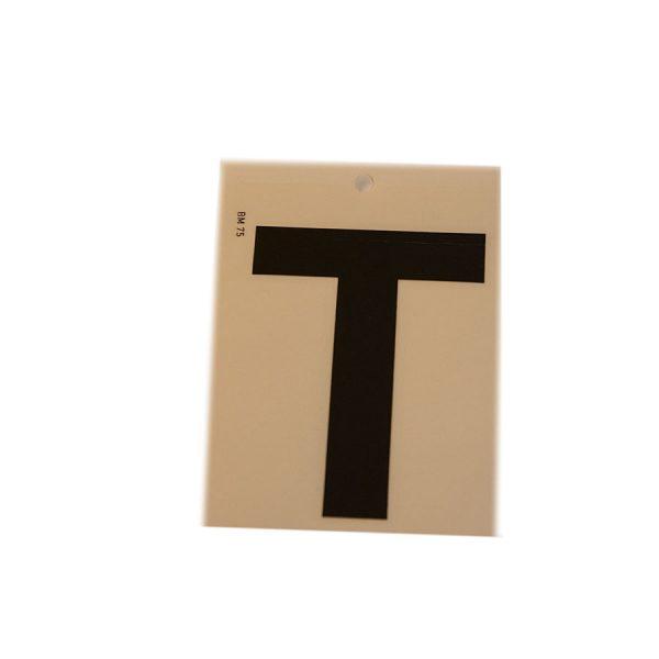 Köp svarta självhäftande bokstäver 75 mm | Materialbutiken