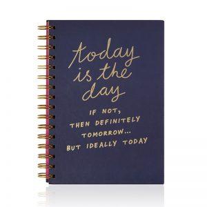 Köp linj skrivbok a5 med 'today is the day' meddelande festtillbehör   Materialbutiken