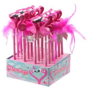 Köp flamingo med fjäder svans blyertspenna festtillbehör | Materialbutiken
