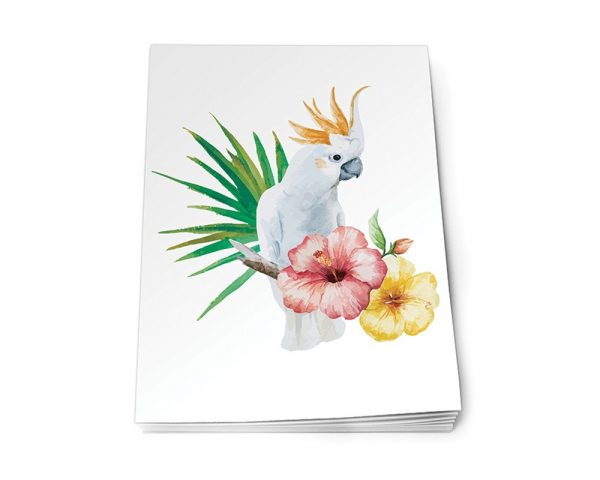 Köp olinj A5 skrivblock med papegoja festtillbehör | Materialbutiken