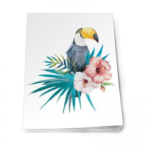 Köp olinj A5 skrivblock med tukan festtillbehör | Materialbutiken
