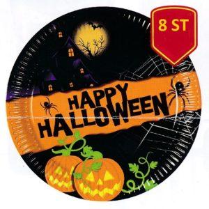 Köp skräck tallrikar 8 st 23 cm för halloween dekorationer | Materialbutiken